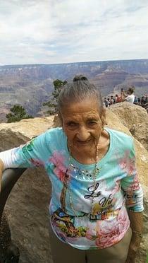 Maria at the Grand Canyon
