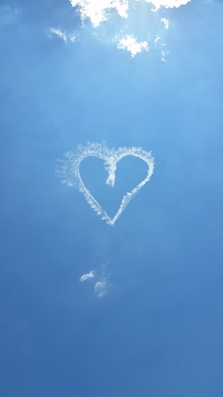 Sky picture of a heart