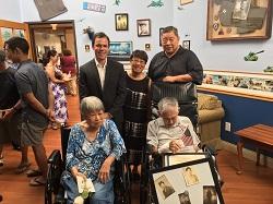 Susuma Yasuda with a representative from US Senator Diane Feinstein's Office, Chris Barwick