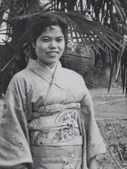 Young Sachiko in Kimono