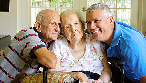 family with dementia patient